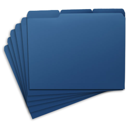 GTD® FILE FOLDERS - BLUE