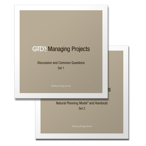 GTD® MANAGING PROJECTS - CD SET