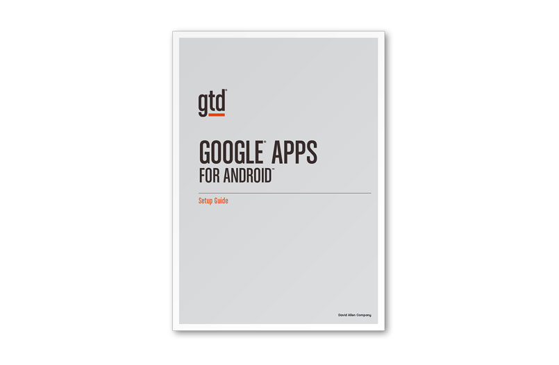 GOOGLE APPS FOR ANDROID - A4 SIZE