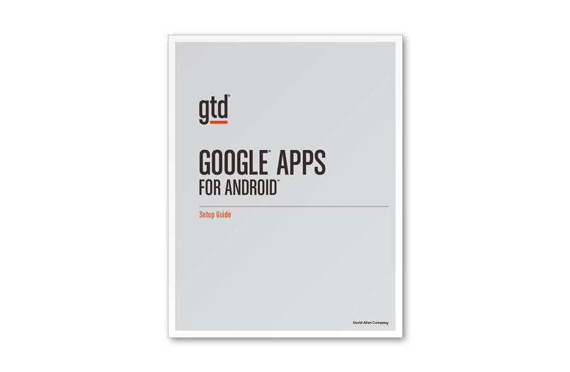 GOOGLE® APPS FOR ANDROID - LETTER SIZE