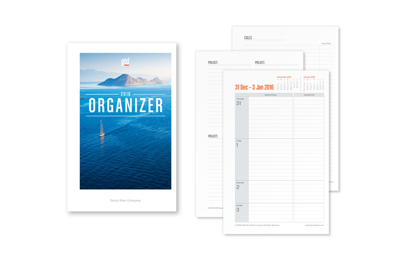 2016 GTD® ORGANIZER - JUNIOR SIZE