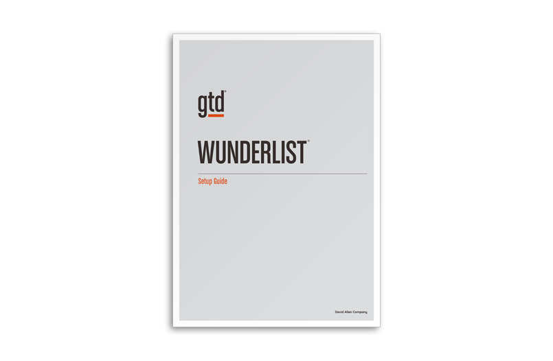 WUNDERLIST - A4 SIZE